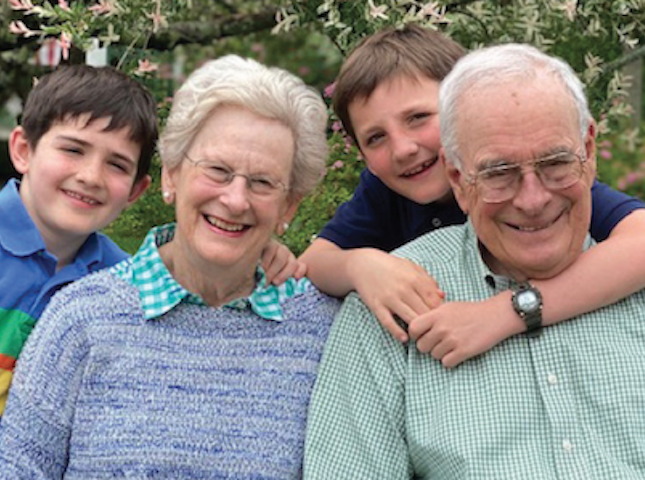 Karen and Warren McFarlan with their grandchildren