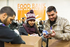 Food Bank for New York City volunteers