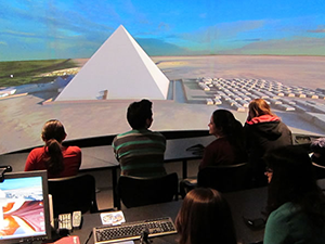 Students in a popular General Education class explore the cemeteries of the famous Giza Pyramids with 3D computer modeling, GIS resources, and visits to museum collections.
