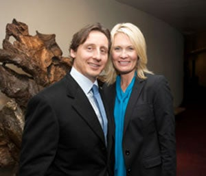 Mike Vranos and his wife, Anna-Karin