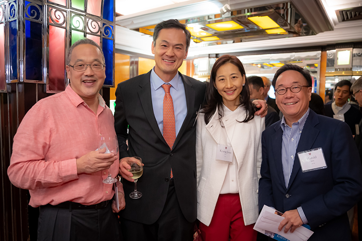 Four Associates donors at the reception in Hong Kong