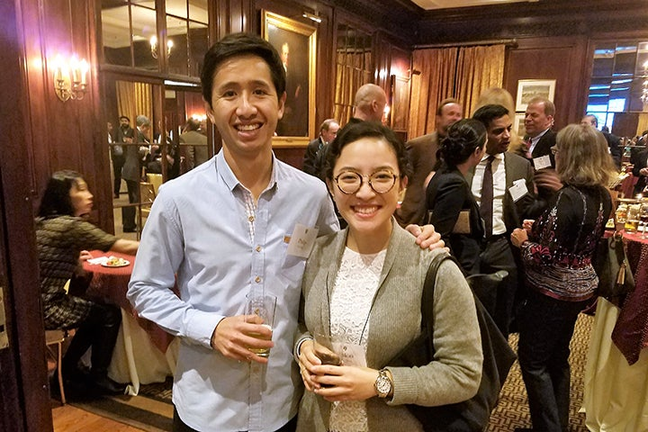 Two Associates donors at the reception in New York City