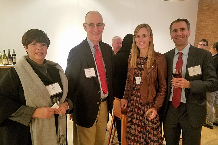 Four Associates donors at the reception in Chicago