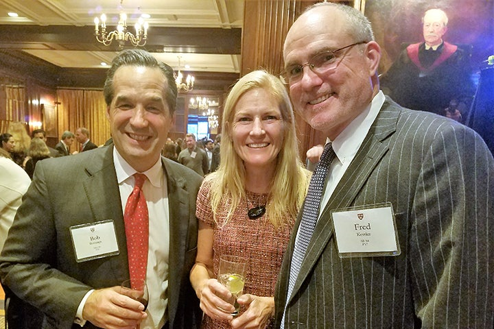 Three Associates donors at the reception in New York City