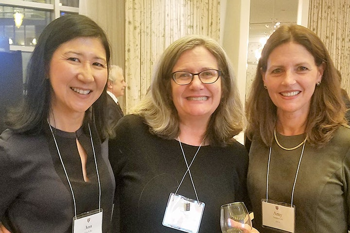 Three Associates donors at the reception in Boston