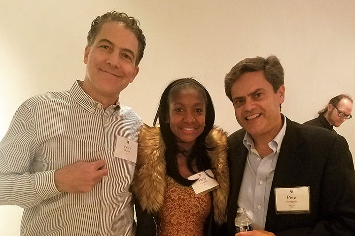 Three Associates donors at the reception in Chicago