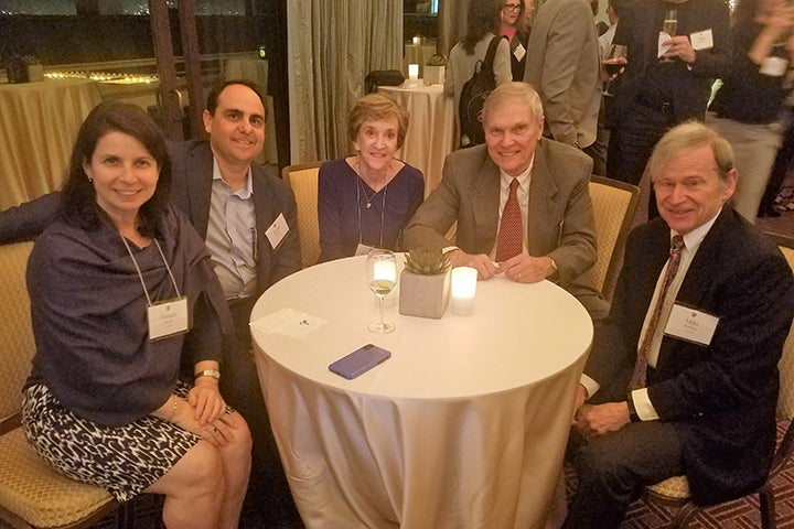 Five Associates donors at the reception in Los Angeles