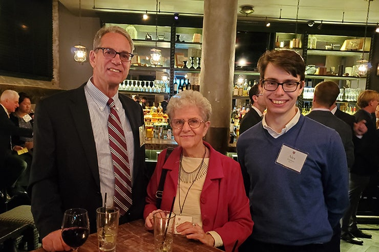 Associates donors pose for a picture in Boston