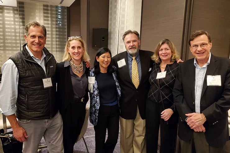 Associates donors pose for a picture in San Francisco