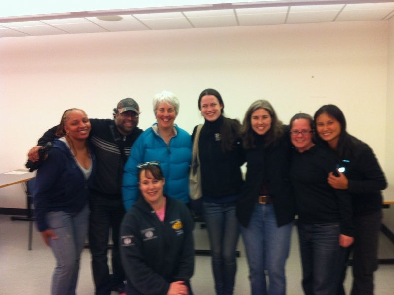 Harvard volunteers at the Greater Boston Food Bank.
