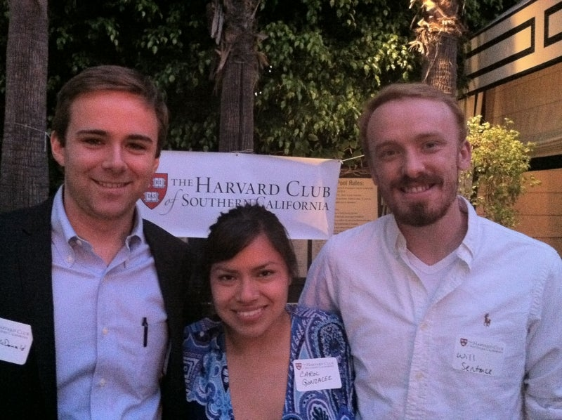 Alumni at GNN in Los Angeles, sponsored by the Harvard Club of Southern California.