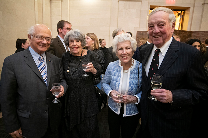 Four donors at the President's Associates Dinner 2018