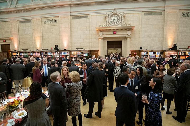 Reception at the President's Associates Dinner 2018