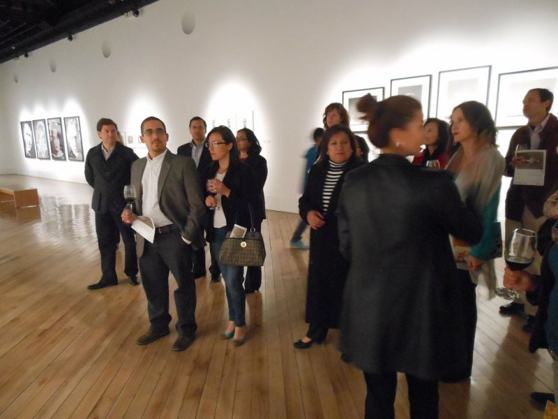 Alumni enjoy art and networking at the Centro de Arte Contemporaneo in Quito, Ecuador.