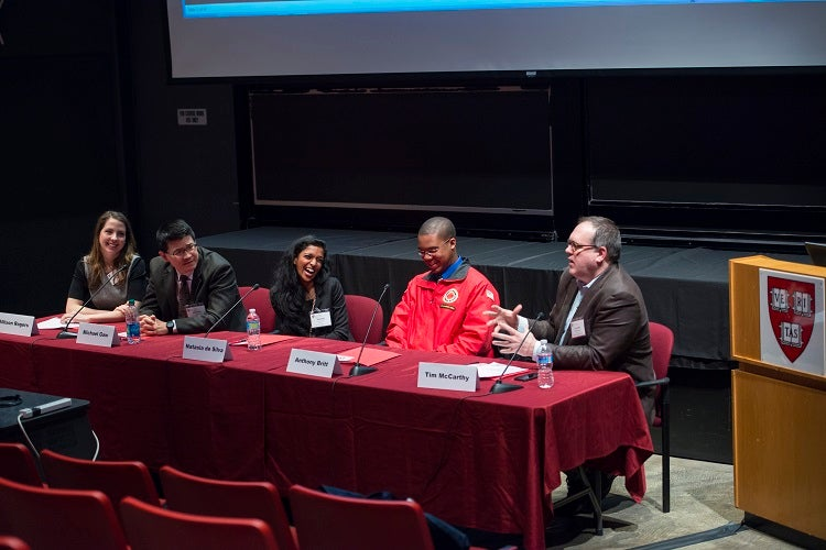 A panel of alumni discuss their varied public service interests and careers.
