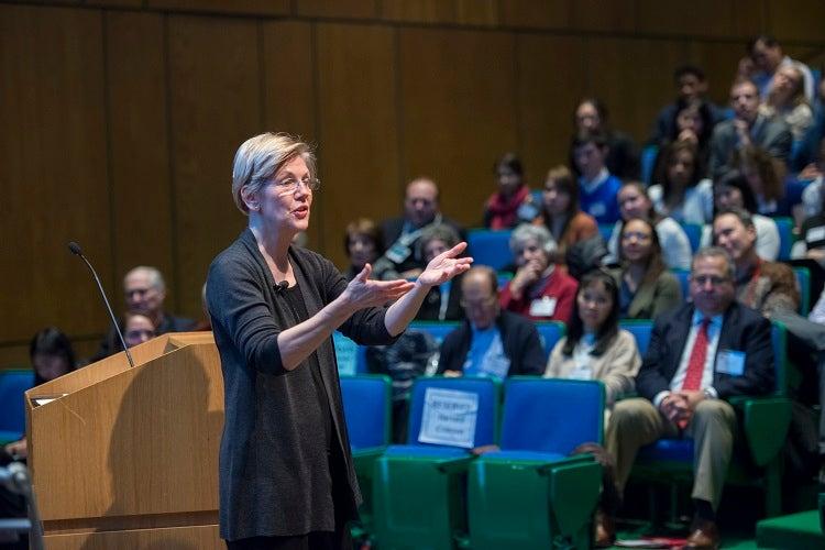 Senator Warren discusses the importance of public service.