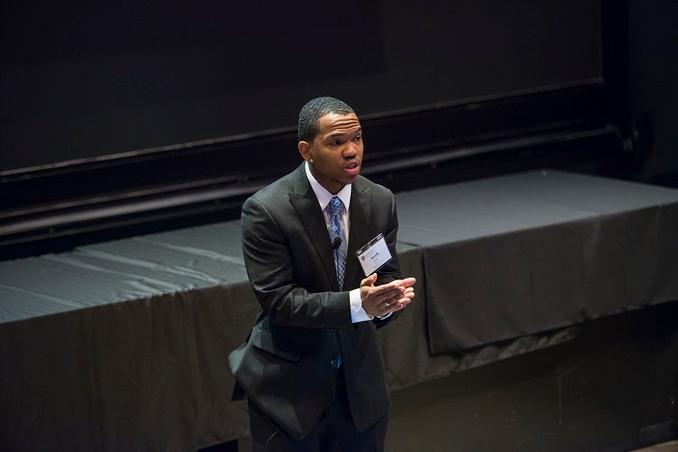 Jarell Lee '10, Founding Dean of School Culture at Achievement First Aspire Elementary School.