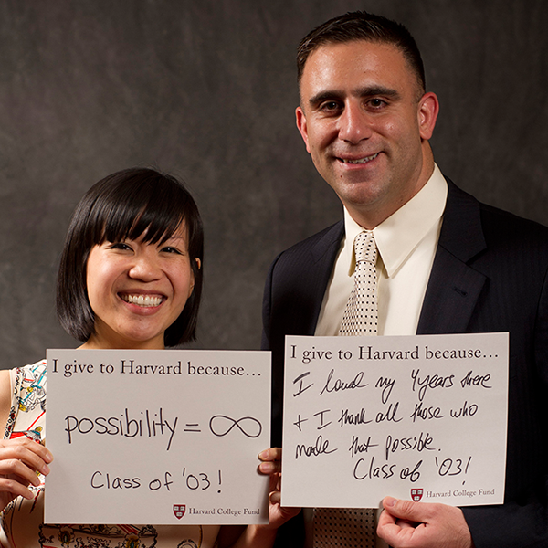Jean Huang '03 and Michael Coscetta '03