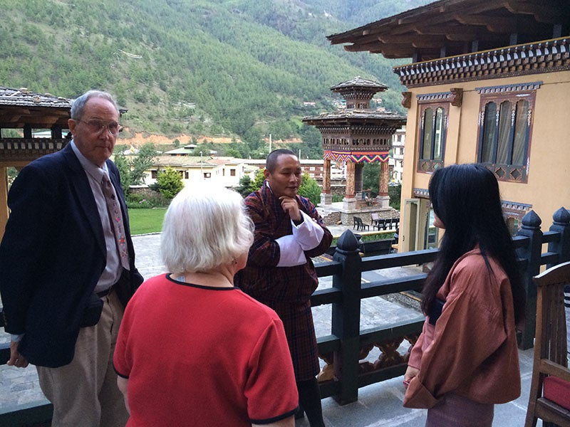 Networking in Thimphu, Kingdom of Bhutan.