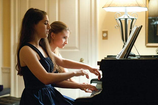 Piano Duet Performance in Lowell House