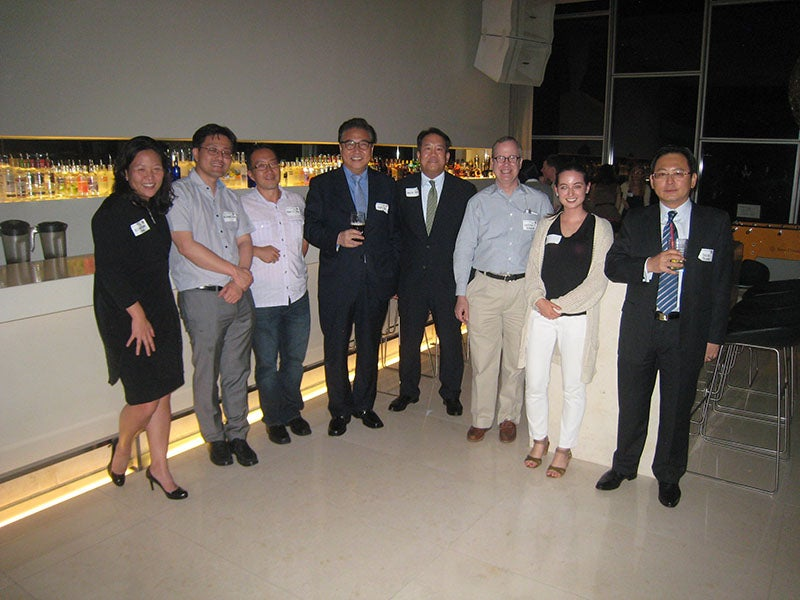 Harvard alumni networkers in Seoul, Republic of Korea.