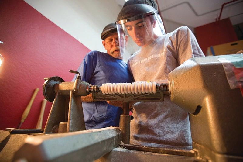 Wood Turning Studio at Mather House