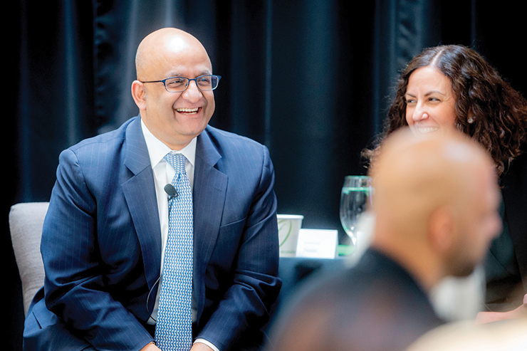 HBS Dean Nitin Nohria participates in a panel discussion