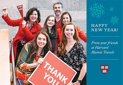 Happy 2019 from Harvard Alumni Travels!