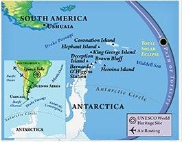 Antarcta Solar Eclipse Voyage Map