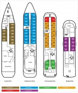 <em>Caledonian Sky</em> Deck Plan