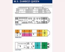 <em>Zambezi Queen</em> Deck Plan