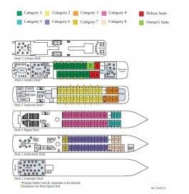 <em>Le Soleal</em> deck plan
