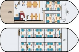 <em>Magnifique II</em> Deck Plan