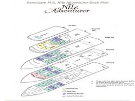 <em>Nile Adventurer</em> Deck Plan