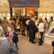 Members enjoying the galleries