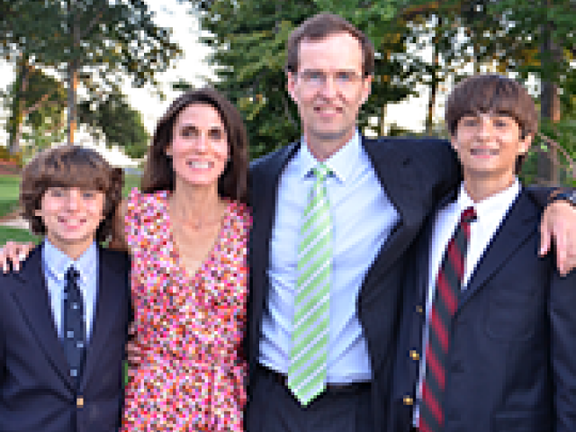 Jim and Beth Frates and family