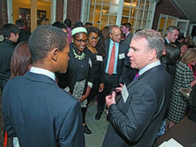 Ken Griffin speaks with Harvard students