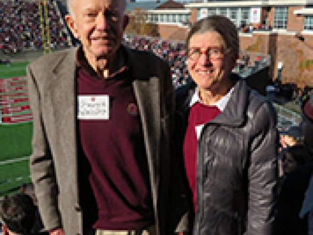 George '54 and Wendy Walcott '62