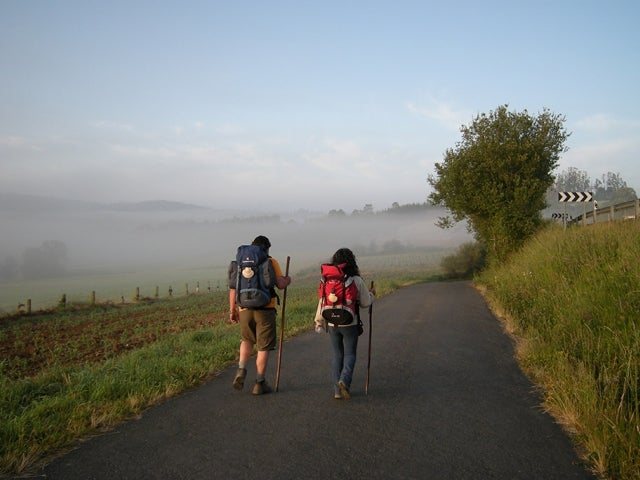 hikers on a road