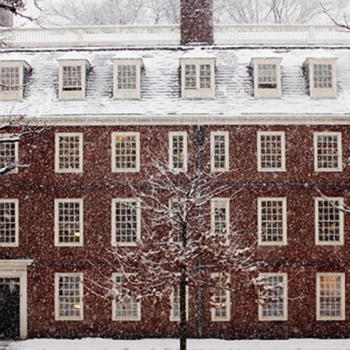 Harvard in winter