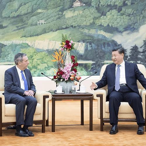 President Bacow at Peking University