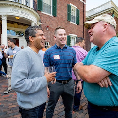 Harvard Veterans Alumni Organization welcome back barbeque