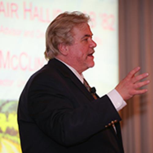 Alasdair Halliday speaking at Denver Family, Finance, and Philanthropy