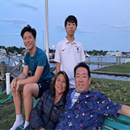 Peter Kyunghwan Kim '91 and his wife, Sarah, and their two boys