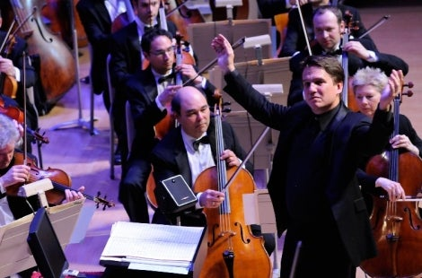 Conductor Keith Lockhart and the Boston Pops Orchestra