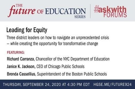 Future of Education; Leading for Equity