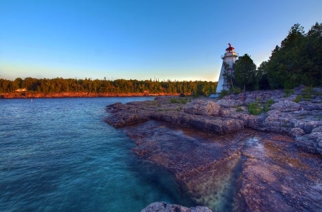 Tobermory Lighthouse in Ontario