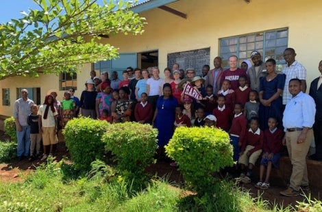 Group photo at local school