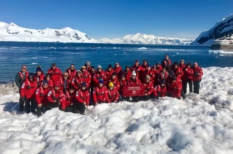 Group of Harvard Travelers in Antarctica