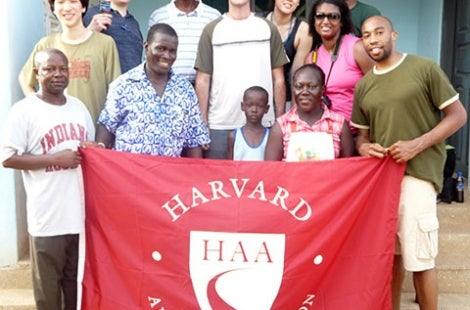Group photo with HAA banner
